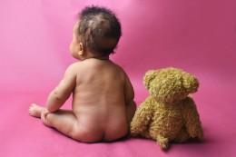 BABY AND BEAR PHOTOSHOOT