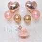 pink gold cakesmash